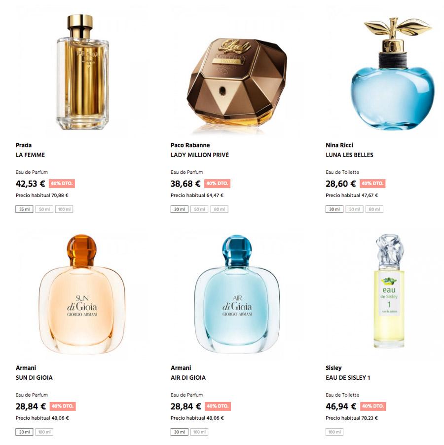40% de descuento en perfumes y cosméticos ¡Solo en Sabina